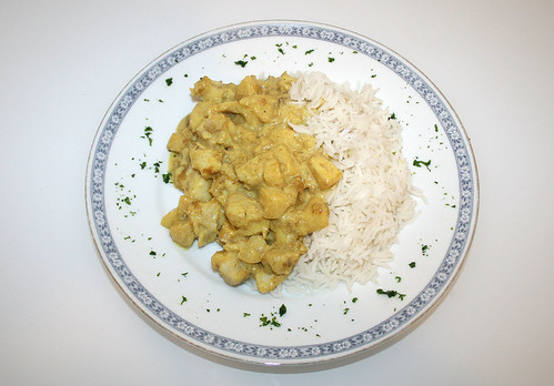 28 - Madras Fisch-Curry / Madras fish curry - Serviert