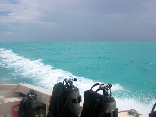 SCUBA tanks in Belize