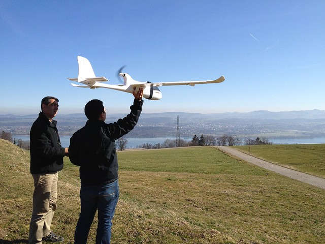 Serge Wich and Lian Pin Koh test-flying conservation drone ...