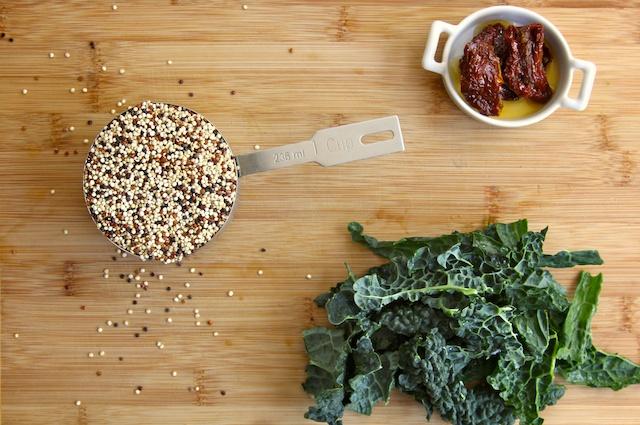 Kale and Quinoa Cakes