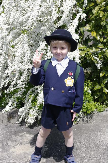 april 6 2012: nico returns to kindergarten
