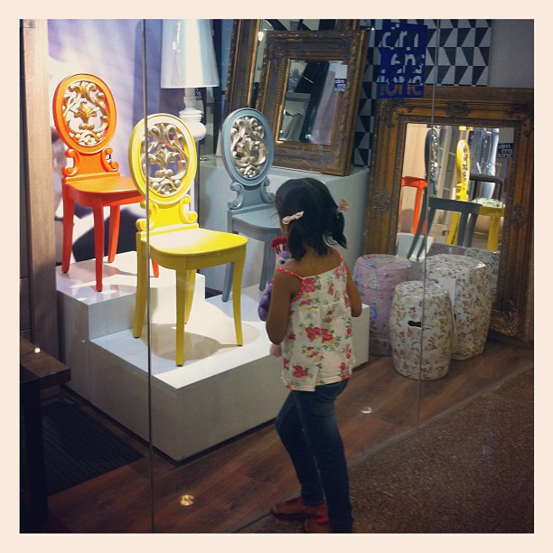 """How did you do that Mom?"" -Lily,5 upon seeing the Daphne Chairs at Dimensione"