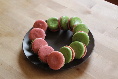 Raspberry Lime Rickey Macarons