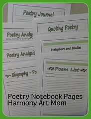 Poetry Notebooking Pages button