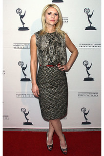 Claire Danes Clashing Prints Celebrity Style Women's Fashion
