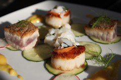 Scallops (with ahi tuna)