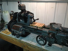 machine, metal lathe, tool, steam engine, tool and cutter grinder, lathe,
