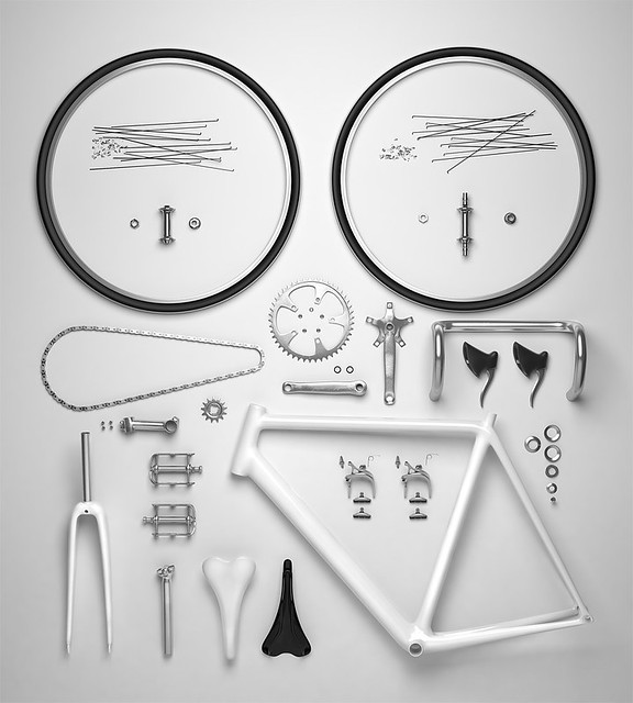 Exploded View of a Bicycle