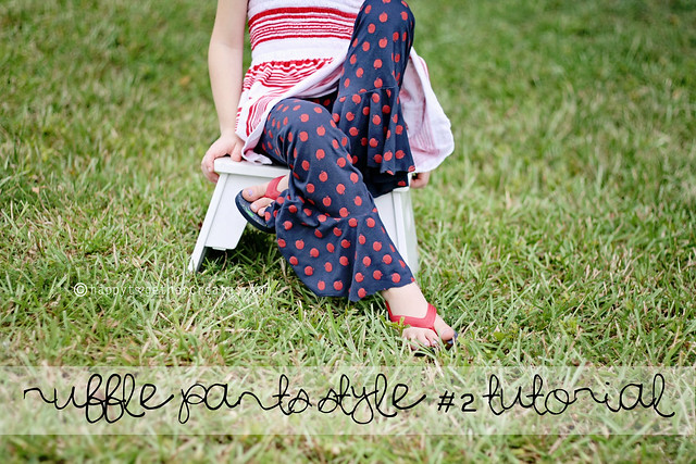 Ruffle Pants Style #2 Tutorial