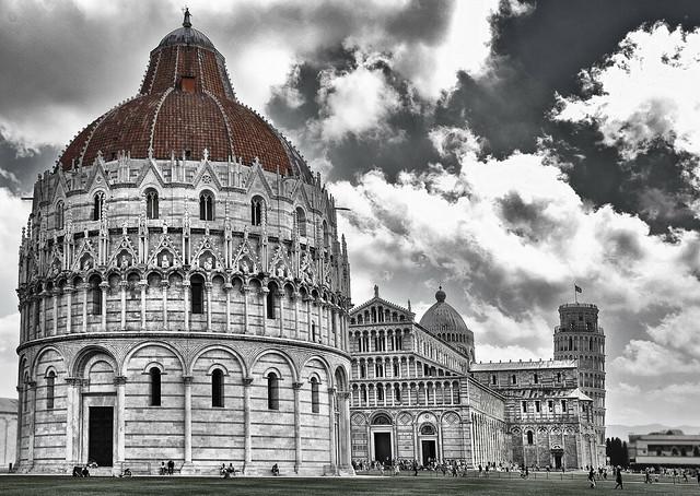 l baptisterio de la Piazza del Duomo. Pisa. Italia.