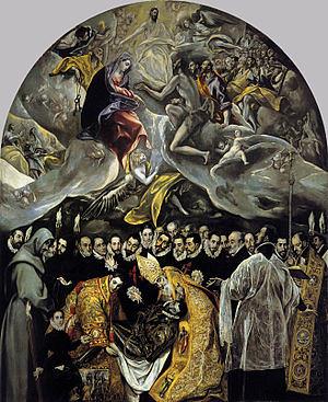 エル・グレコ「オルガス伯の埋葬」(トレドのサント・トメ教会)wikipediaより by Poran111