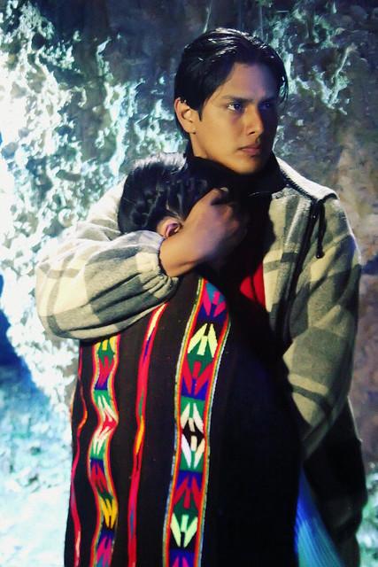 "Edwin Vásquez, en el rodaje de la película ""Yawar Wanka"""