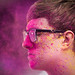 Holi Powder to the Face: Will gets dusted. by sgoralnick