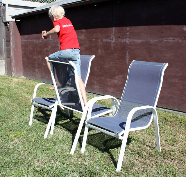 Easy Obstacle Course: chairs