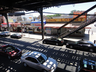 View of Liberty Avenue from the Rockaway Boulevard subway station