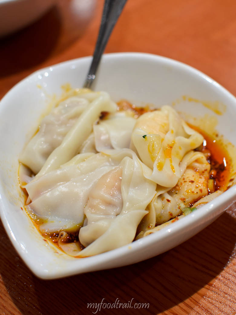 Din Tai Fung, Hong Kong - Shrimp & pork wonton with spicy sauce