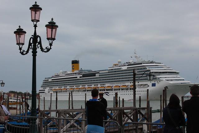 """cruise ship """"Costa Favolosa"""" in Venice"""