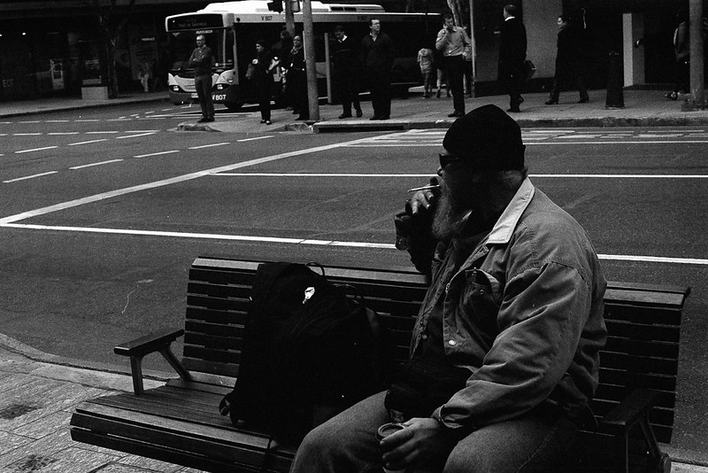 Man with a cigarette, Brisbane