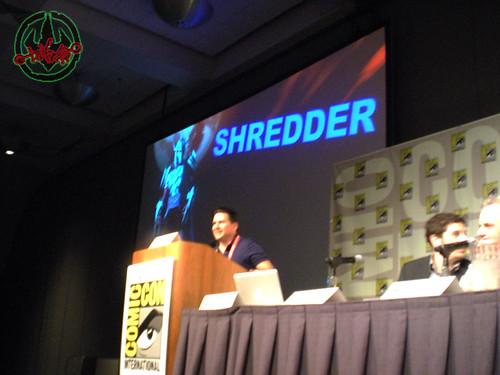 "San Diego Comic-Con 2012;""Go Green! With Lean, Mean, Ninja Team — Nickelodeon's Teenage Mutant Ninja Turtles (sneak peek)"" panel, Kevin Michael Richardson  i"