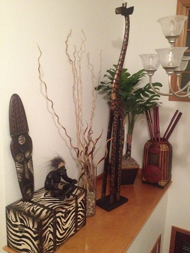 Redecorated plant shelf