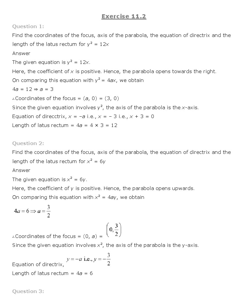 essay on conics Yes, conic sections isn't particularly exciting but it can, at least, be enjoyable we dare you to prove us wrong.