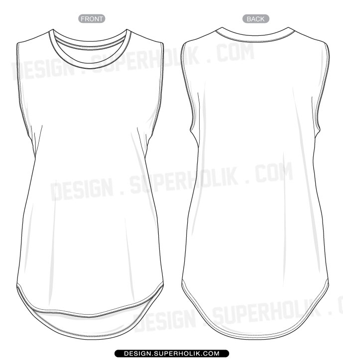 hem tank top template flickr photo sharing. Black Bedroom Furniture Sets. Home Design Ideas