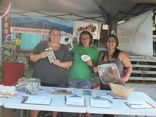 Members Alex Searles, Crystal Courtney, and Diannea Wilson at the Browngrass Festival.