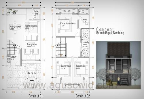 Update desain rumah Bapak Bambang - Malang
