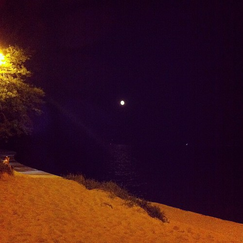 Moon on the Beach