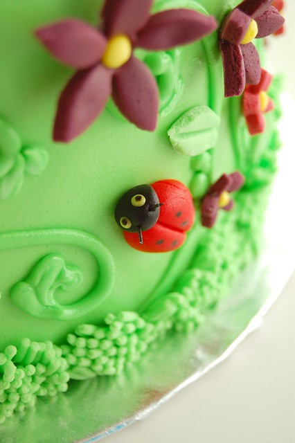 Emma's Kitty Cat Birthday Cake - Ladybug