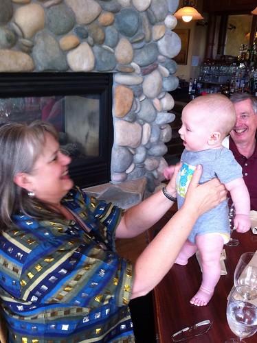 Gma Rhonda, Franklin, and Gpa Ray at the Mountain Lake Lodge