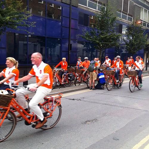 Many Dutch cyclists. Up Holland Up!