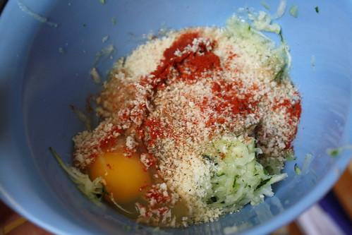 pre-mixture zucchini cakes