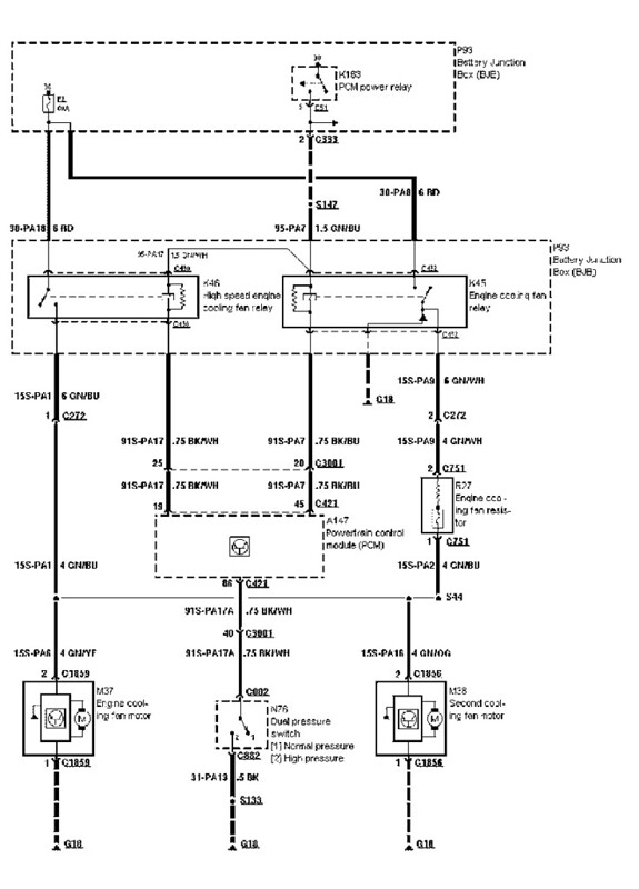 97 ford taurus fuse box diagram