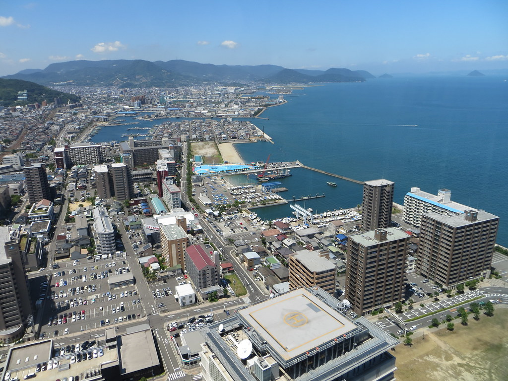 Harbor view from Symbol Tower, Takamatsu