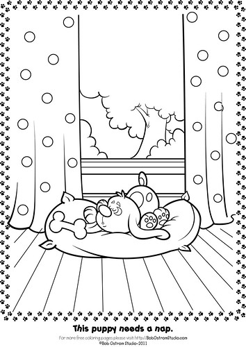 7756674182 ab6a1eb90e Free Puppy Coloring Page.
