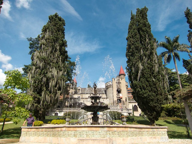 Castle fountain and gardens