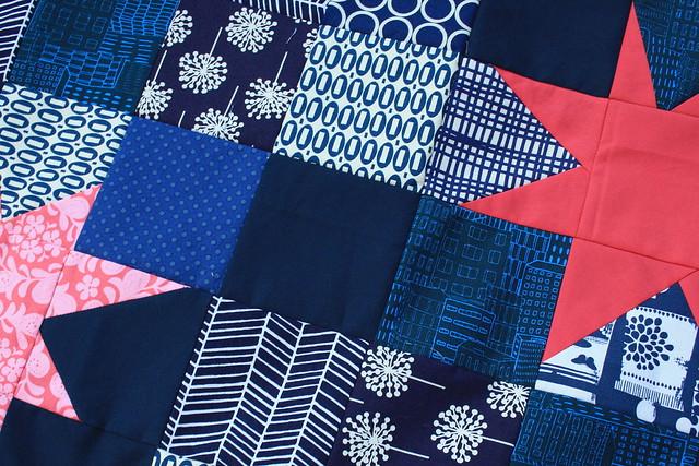 blue quilt start