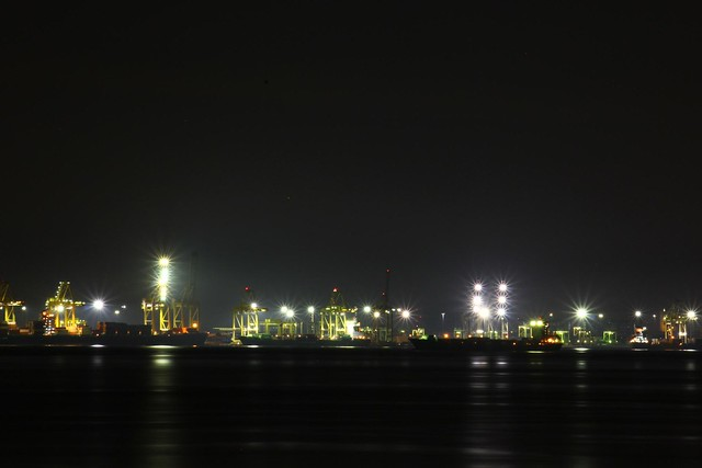 Penang Port At Night