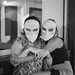 Kristin and Tara in their Sleep No More masks