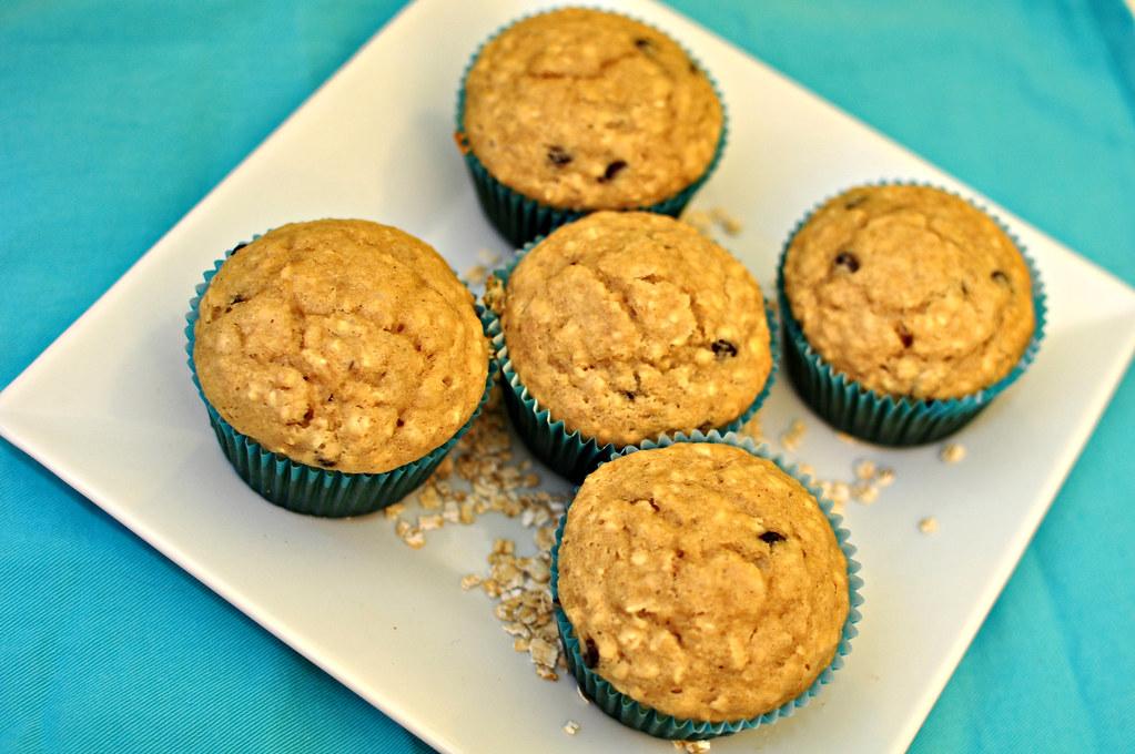 Oatmeal Peanut Butter Muffins
