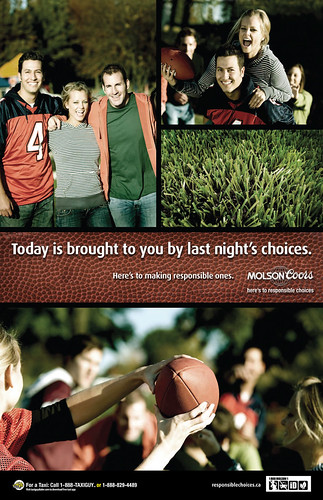 Molson Coors Campus Football Poster