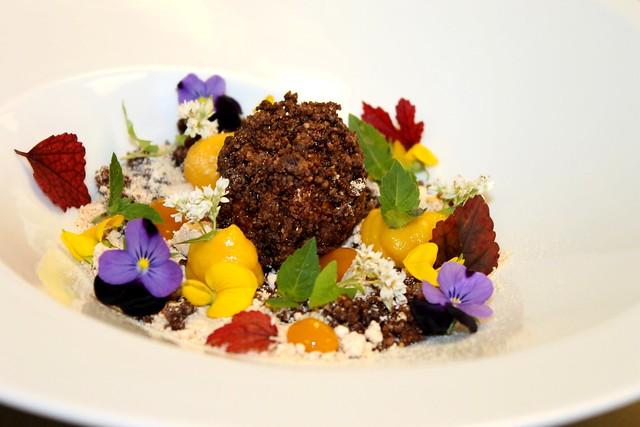 "Faux Black truffle"" Chocolate hazelnut frangelico liquid center ..."