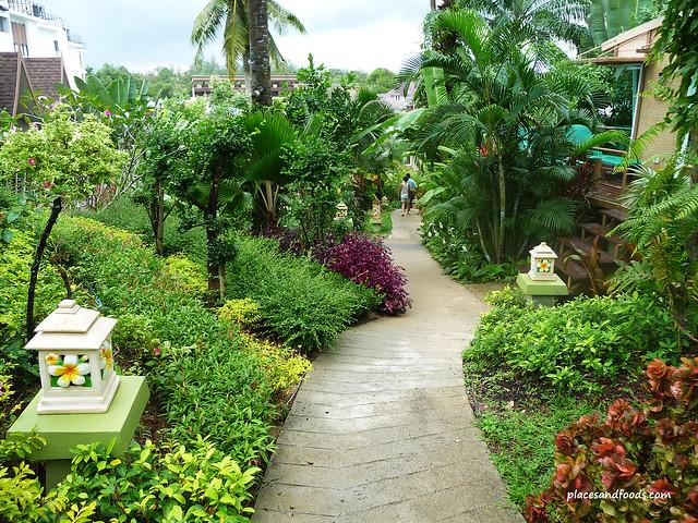 palm paradise resort krabi walkway