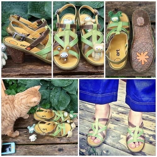 green ART sandals