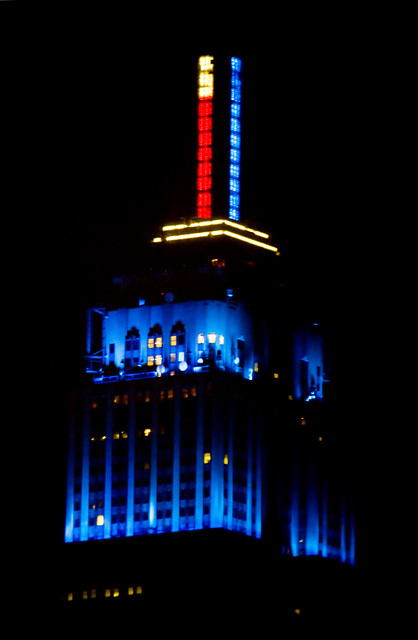 Empire State Building, election night