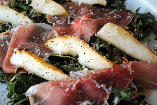 Pear, Parmesan & Prosciutto Salad