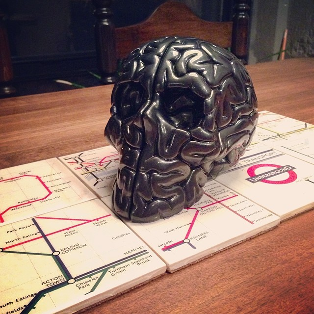 The dining room table centerpiece skull brain flickr for Llwyn y brain dining room