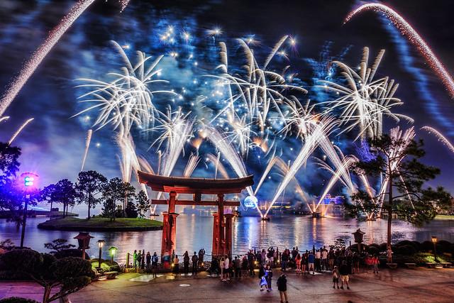 Fireworks Friday:  IllumiNations from Outside Teppan Edo