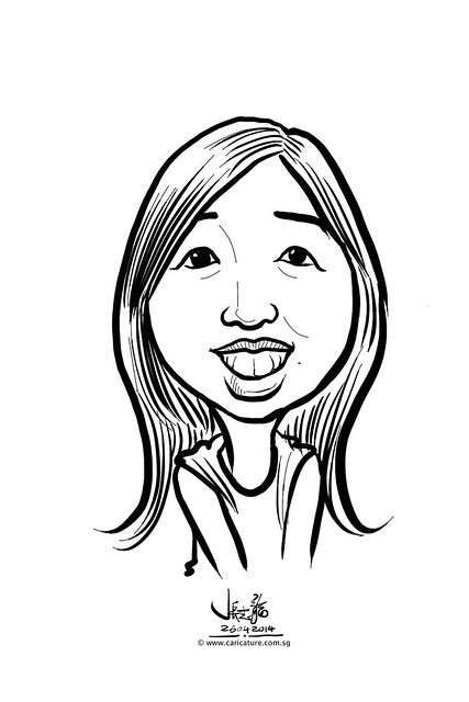 digital live caricature sketching for National Heart Centre Singapore -20